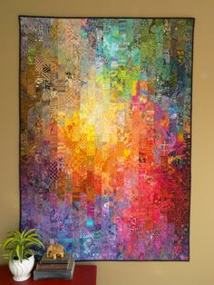 Watercolor quilt by Wanda Hanson, Exuberant Color. Featured in The Quilt Life 2014