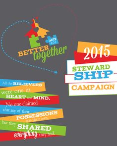 #church #logo #work #for #2015 #giving #campaign #better together #stewardship