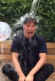 Benedict does the Ice Bucket Challenge - Text ICED55 (followed by an amount e.g £5) to 70070 (UK only) To support the Association, visit www.justgiving.com/mndassoc. For more information follow @mndassoc and @mndVIPteam