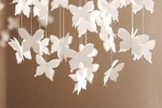 DIY Butterfly mobile for baby shower or baby's room