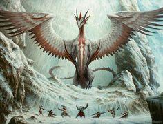 Skywise Teachings Art by Filip Burburan MtG Art from Dragons of Tarkir Set by Filip Burburan Mythical Creatures Art, Mythological Creatures, Magical Creatures, Fantasy Monster, Monster Art, Fantasy Beasts, Fantasy Art, Feathered Dragon, Dragons