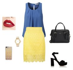 """""""Sem título #99"""" by jullysakura on Polyvore featuring moda, LE3NO, French Connection, Miu Miu, Kate Spade, Casetify, Chico's e Jouer"""