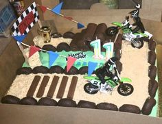 My attempt at a dirt bike track cake
