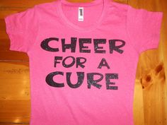 Custom Cheer for a Cure Breast Cancer Awareness by jensoccercheer, $21.00