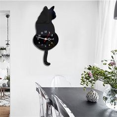 Creative Cute Wagging Tail Cat Wall Clock For Household Decorative – juleland Cat Lover Gifts, Cat Gifts, Cat Lovers, Clock Decor, Wall Decor, Wall Clocks, Hanging Clock, Cat Clock, Cat Wall