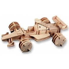 3-D Wooden Puzzle - Racing Car -Affordable Gift for your Little One! Item #DCHI-WPZ-P081