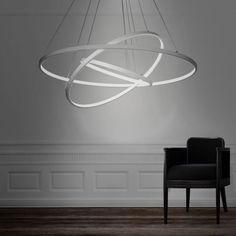 Modern Design LED 3Rings Chandelier Lighting Lights Fixture Pendant Ceiling Lamp