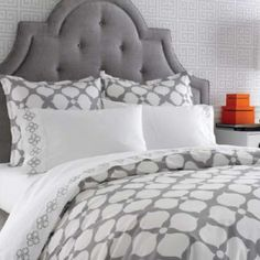 gray fabric headboard - Google Search