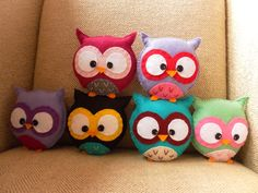 Finished 6 more owls for the primary school order too, nearly at 30 now! The school wants to give them to the kids as 'wise owl' prizes :) excited to hand them over! http://www.etsy.com/shop/HollyGoBrightly?ref=si_shop
