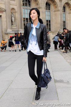 Korean Street Fashion   ... after Louis Vuitton show, Paris RTW Fashion Week — SWINGING-PARIS