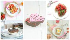Over een kleine week is het Valentijn. Hoe leuk is het niet om je lief te verrassen met een van de 5 Valentijnsrecepten met aardbeien of chocolade? Lunch Snacks, Om, Breakfast, Desserts, Morning Coffee, Tailgate Desserts, Deserts, Postres, Dessert