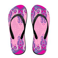 Pink Totem Flip Flops Beach Slippers -- Learn more by visiting the image link.