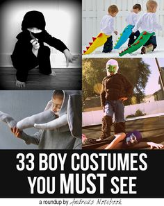 33 Boy Costumes you MUST see! (or for kick-ass girls.why can't a girl be a ninja or an elephant? Halloween Kostüm, Holidays Halloween, Halloween Costumes For Boys, Superhero Halloween, Sewing For Kids, Diy For Kids, Sewing Tutorials, Sewing Projects, Sewing Ideas