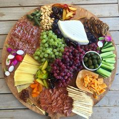 A little bit of everything.  #cheese #cheeseboard #crudites #charcuterie…