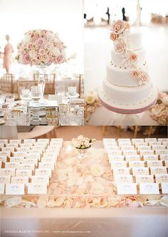 Blush colored tablescape for | http://my-romantic-life-styles.blogspot.com
