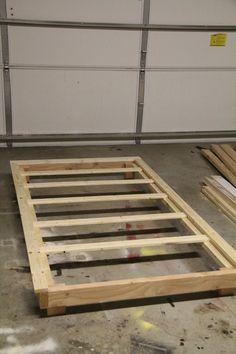 Platform Bed Frames Plans cheap, easy, low-waste platform bed plans | platform beds