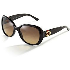 GUCCI Rounded Sunglasses found on Polyvore