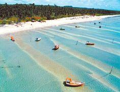 Vista aérea de S. Miguel dos Milagres, a praia do momento em Alagoas