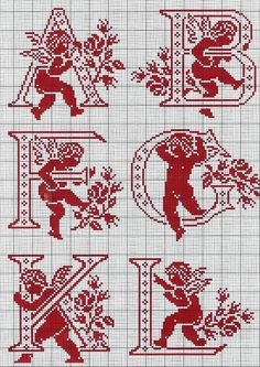 ru / Foto # 22 - The Alphabet 2 - irinika.lots of alphabets! Stitch And Angel, Cross Stitch Angels, Cross Stitch Letters, Cross Stitch Samplers, Cross Stitch Flowers, Counted Cross Stitch Patterns, Cross Stitch Charts, Cross Stitch Designs, Cross Stitching