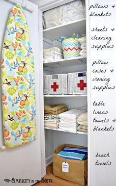 DIY Closet Organization Ideas for Messy Closets and Small Spaces. Organizing Hacks and Homemade Shelving And Storage Tips for Garage, Pantry, Bedroom., Clothes and Kitchen | Linen Closet Organization | http://diyjoy.com/diy-closet-organization-ideas