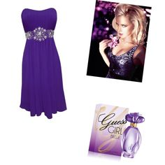 Be Flirtatious with GUESS Girl Belle, created by melissalank on Polyvore