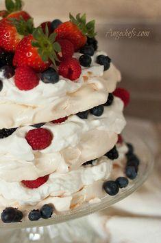 Tarta Pavlova con Frutos Rojos!