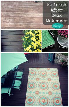 ART IS BEAUTY: Back to School Deck Makeover ~~~ AFTER...finished makeover!