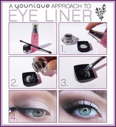 Not sure how to get the Younique looks? Here is a tutorial! #Younique #MakeupTips #Makeup #Eyes #SmokeyEye #EyeMakeup #Liner #Mascara #Beautiful   www.youniqueproducts.com/JessicaJordanMunn