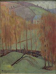 La colline aux , by Paul Serusier - Cd Paintings Maurice Denis, Pierre Bonnard, Paul Gauguin, Nature Words, Fauvism, Le Havre, Art Moderne, Autumn Art, French Art