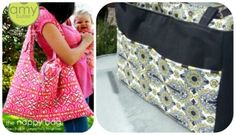 Homemade Diaper Bags and tons of other DIY baby stuff