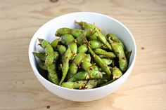 Garlic Edamame -- Our most popular appitizer