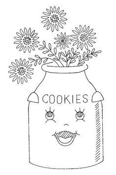 FLOWERS - Cookie jar