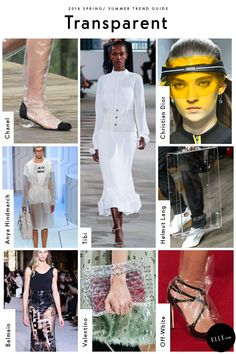 Transparent Go clear this season with all your favorite designers. Chanel convinced us we need an OTK rain boot, Tibi's has us considering over a plastic corset, and Off-White's plastic-wrapped collab with Jimmy Choo already man a fan out of Rihanna.