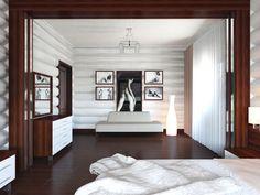 Дизайнер Анастасия Лисичкина (Любецкая): Интерьер дома из сруба.