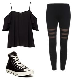 """Untitled #59"" by fallenangelkieo on Polyvore featuring Converse"