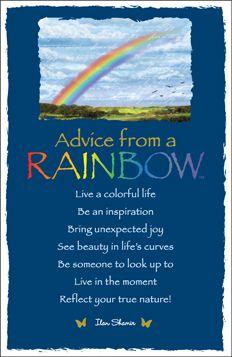 Advice from a Rainbow Frameable Art Postcard
