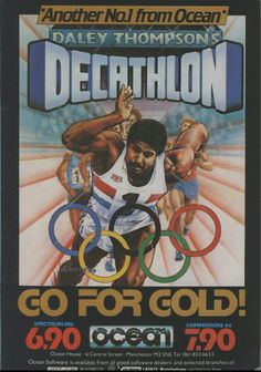"The joystick-busting Daley Thompson's Decathlon, complete with the Vangelis title track from Chariots of Fire. Another title that made it's way onto the ""They Sold a Million"" compilation."