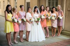 Today's Bride :: The Bridal Collection: Paint Swatch Bridesmaid Dresses