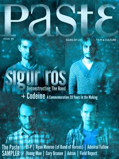 Sigur Rós on the cover of Paste
