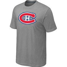 NHL Montreal Canadiens Big & Tall Logo T-Shirt - L.Grey