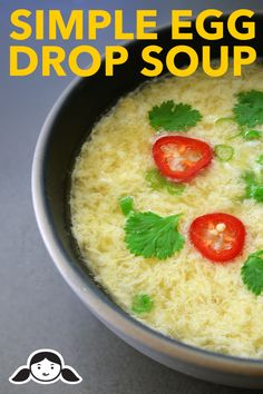 Simple Egg Drop Soup - http://ift.tt/1FbGdFO