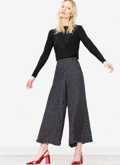 Silk polka dot trousers - See all - Ready to wear - Uterqüe Spain
