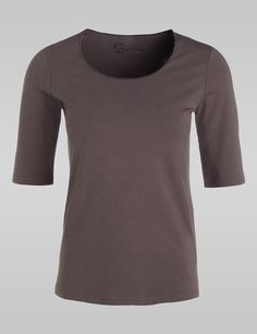 Softes Basic-Shirt,taupe,large
