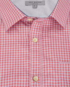 Checked short sleeve shirt - Pink | Shirts | Ted Baker
