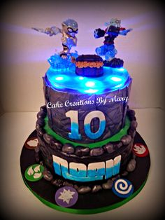 Skylanders SWAP Force Cake with Lights!