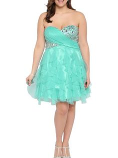 f434410dfcd Eveparty Womens Sweetheart Tendril Skirt Tulle Short Prom Dress Plus Size 2  Blue