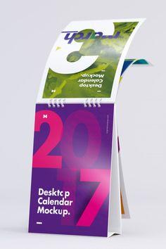 Desktop Portrait Calendar Mockup Turning Pages 2 - Original Mockups