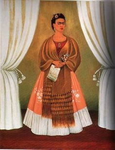 'Self-Portrait Dedicated to Leon Trotsky, Between the Curtains' - 1937 - Frida Kahlo