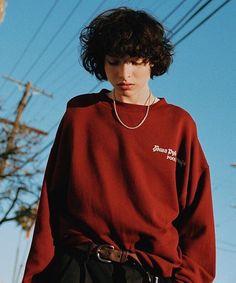 Finn from Stranger Things wearing Gosha Rubchinskiy