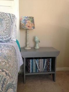 Vintage Simple Bench Nightstand | Do It Yourself Home Projects from Ana White